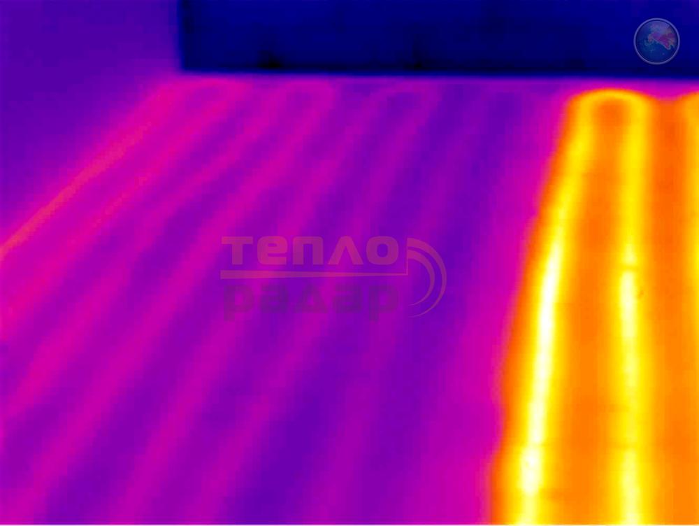 Поиск протечек в тёплых полах с помощью тепловизора и пирометра